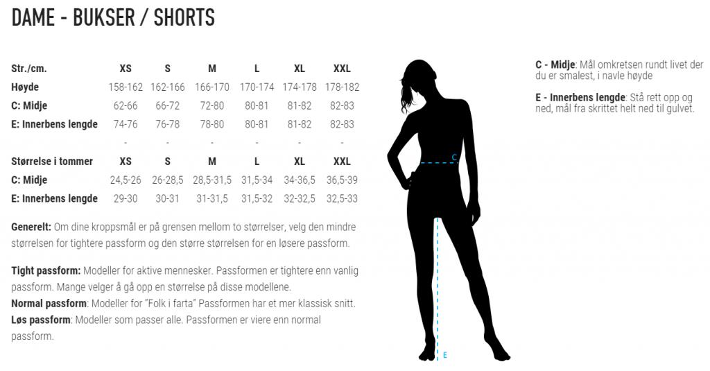 Størrelsesguide treningsklær – Hindrum Skilag