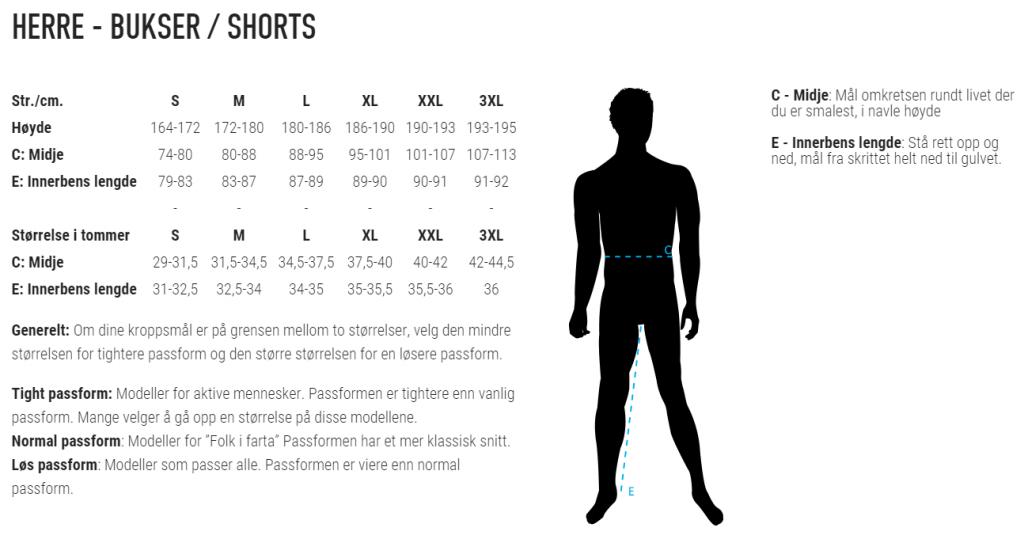 Herre-bukser-shorts